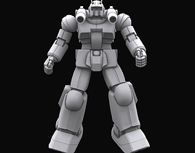 rigged Gundam mobile suit MS RX 77 2 model fi