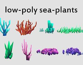 seaweed coral underwater plant 3D asset