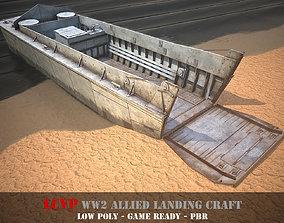 LCVP Landing craft - WW2 Allied boat - Game 3D asset 3