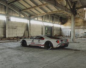 Ford GT with custom Martini Racing Livery 3D