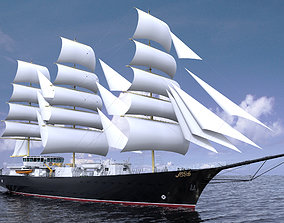 Royal Sail Ship 3D model
