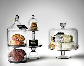 food 3D model Domes with Cakes and Cookies