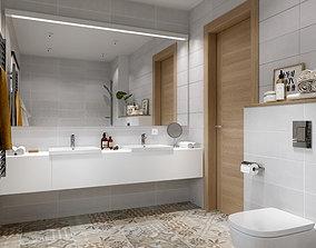 3D Scandinavian wc