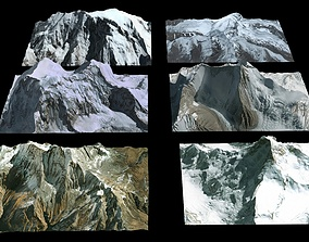 Mountains High resolution 3D model