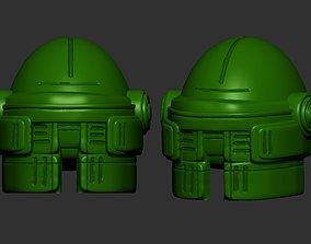 fashion helmet high poly sculpt 3d printable