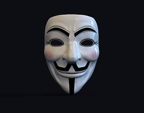 3D printable model Guy Fawkes Mask