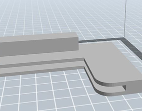 3D printable model Fridge ledge holder