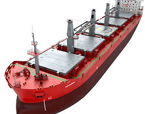 tanker 3D Bulk carrier with holds and reservoirs