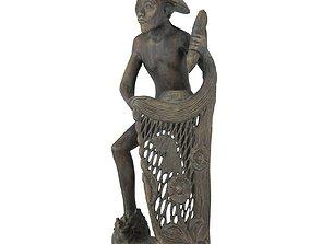3D model Fisherman Carving