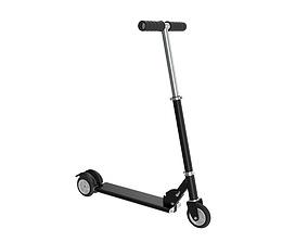 Kick scooter black 3D