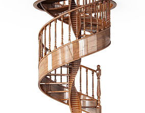 winding-stair 3D model Spiral Stairs