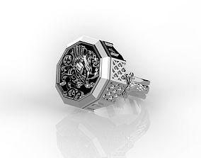 Signet ring griffin 3D printable model