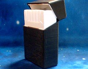 3D printable model Hinged Lid Cigarette Box Case