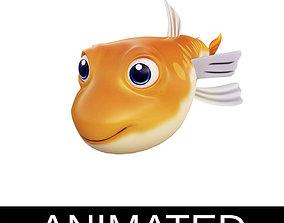 3D model Greater Lizard Fish Cartoon Style Animated