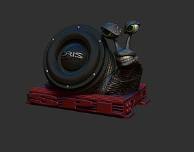 snail subwoofer 3D print model