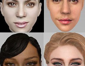 Famous singers pack - Rihanna Shakira Adele Bieber 3D
