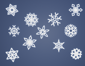 3D printable model snowflake decoration ornament coaster