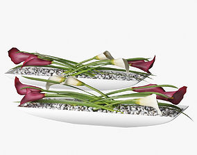 decor with Calla lilies 3D model