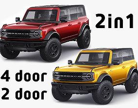 3D Bronco 2021 4-door and 2-door