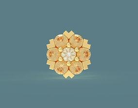 Snowflake or flower shaped stud earrings 3D print model