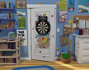 Andys room door 3D