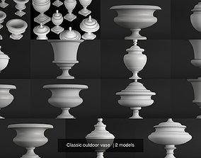 3D Classic outdoor vase