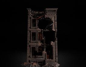DESTROYED OLD BUILDING POST APOCALYPSE 001 3D model
