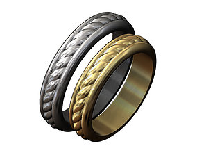 3D printable model Wire braid ring luxury