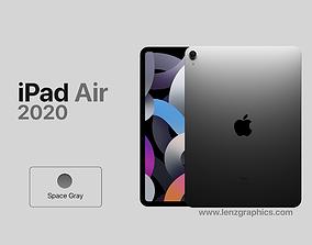3D Space Gray 2020 iPad Air 11 inch