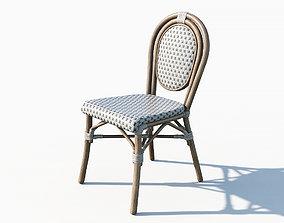 Paris cafe stool 3D model