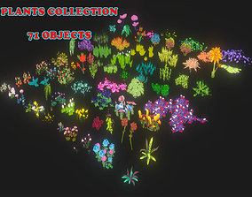 VR / AR ready PLANTS COLLECTION 3D MODEL - LOW POLY
