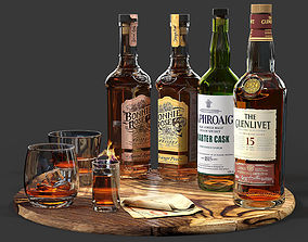 3D Set of bottles 03