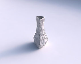 Vase puffy triangle with crystal dents 3D print model