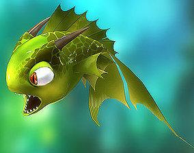 3DRT - Dragon Fish animated