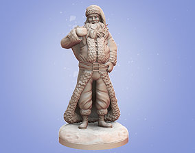 Stylized Santa Claus 3D print model