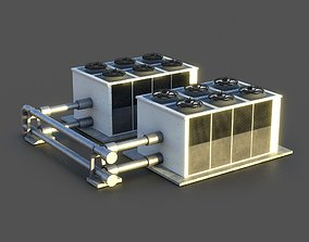3D asset game-ready Rooftop Air Conditioner