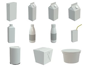 food containers 3D model PBR