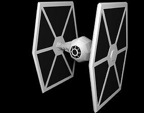 Star Wars Tie Fighter Low Poly 3D model