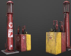 3D model Gas Station videogame asset