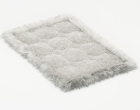 Small soft carpet of fur alpaca 3D