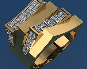 3D printable model Ring 38 stone