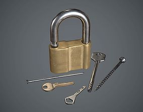 3D asset Lock with keys