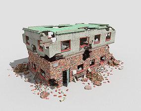 destroyed building 4 3D asset