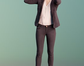Ina 10022 - Standing Business VR Girl 3D asset