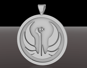 Old Galactic Republic Pendant Star 3D printable model