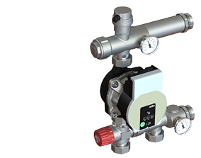Pump and mixing unit with pump 3D print model