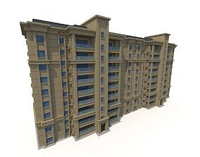 3D model Asian Architecture Residential building 01
