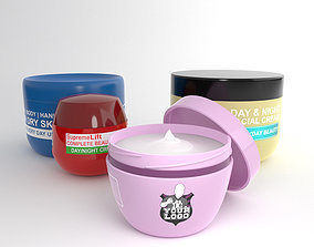 3D model Cosmetic Cream Tubs