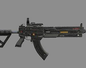 Sci-Fi Automatic Weapon AK600 3D asset