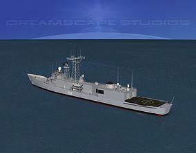 3D model Spanish Frigate Navarra F85